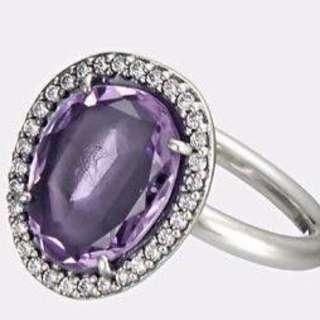 Pandora Purple Amethyst Ring