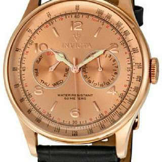 invicta watch rose gold color