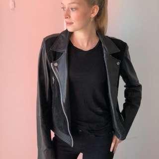 Genuine Black Leather Jacket size Small