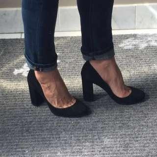 BCBG Suede Almond Toe Shoes