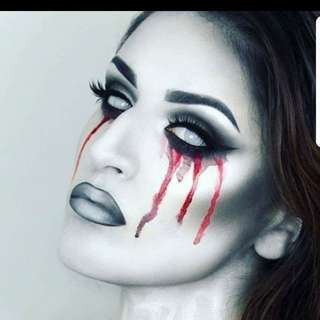 White Manson Zombie Halloween Crazy Eyes