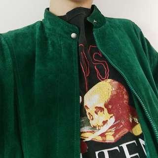 Vintage Green Suede Jacket