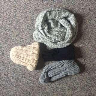 Winter Beanie, Hats, Gloves, Scarf