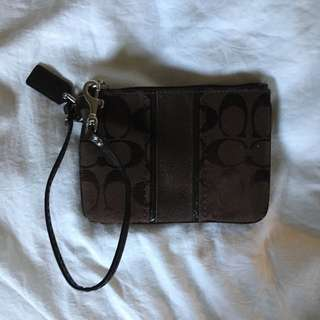 Coach, Brown Wristlet
