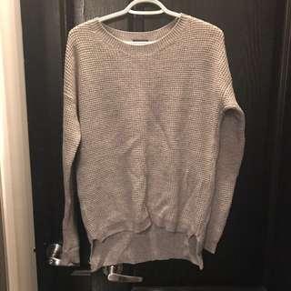 Aritzia Waffle Sweater