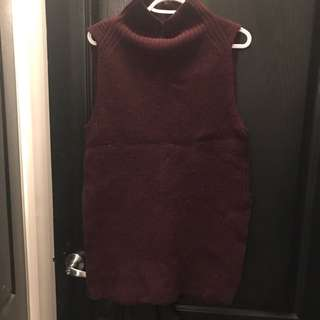 Aritzia Wool Sleeveless Sweater Size S