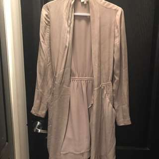Aritzia Silk Cardigan/Dress Size XS