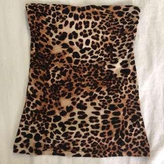 Cheetah Strapless Top