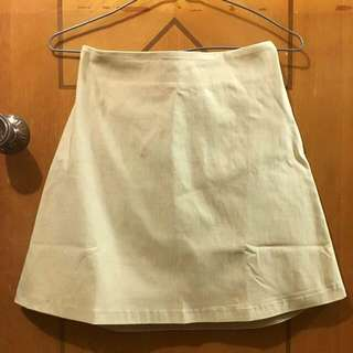($100/3件)藝人范范品牌 Genquo 杏色卡其色後鬆緊半身裙