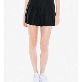 American Apparel Tennis Skirt in Black, size M