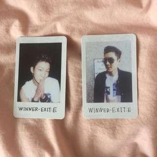 Winner Seunghoon EXIT: E photocards
