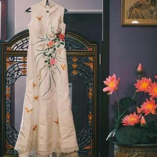 Ivory Cheongsam Bridal Couture (Rental)