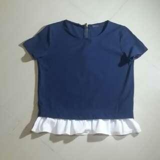 Zara Trafaluc Navy Blue Small
