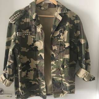 Oversized Camouflage Jacket Military Fatigues