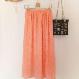 Peach clip skirt