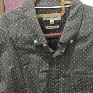 River island Grey Printed Shirt