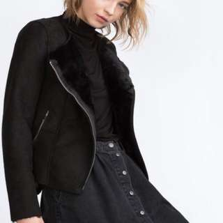 Black Suede Zara Jacket