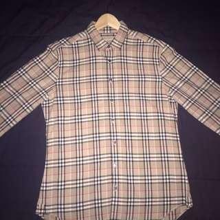 Burberry button down shirt size medium