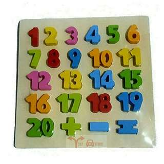 Embossed Numbers Puzzle