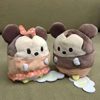 Disney Japan Authentic Ufufy Mickey Minnie Plush Toy [In Stock]