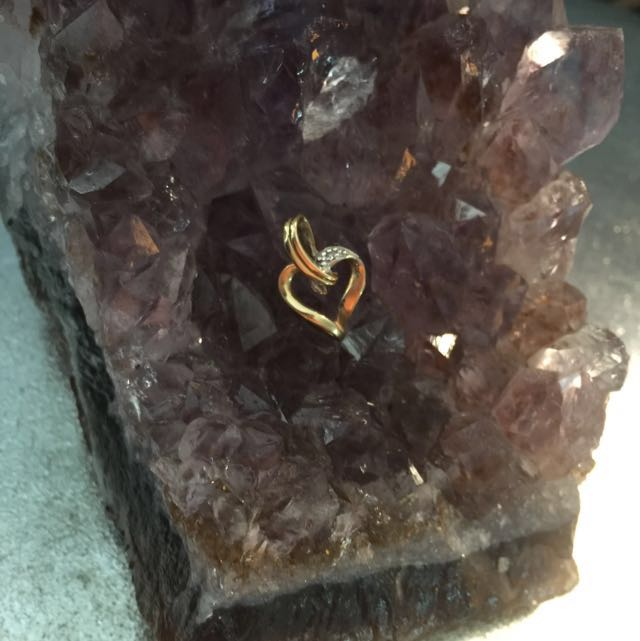 10k Gold Heart Pendant (for Necklace)