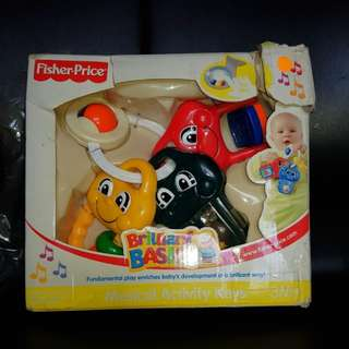 Fisher Price Musical Activity Keys 3M+