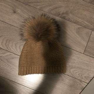 Tanned Rudsak Pom Pom hat (real fur)