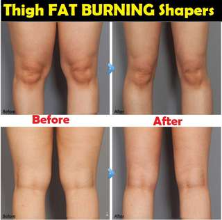 *IN STOCK* Long THIGH FAT BURNING Shapers With Massge Wave Line