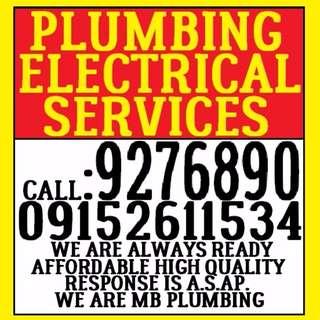 MB plumbing services tubero electrician plumber declogging barado septic tank