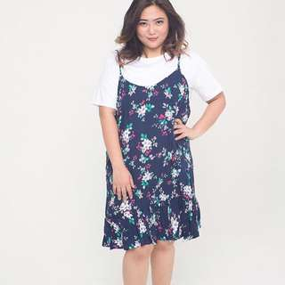 Floral Overall Blue