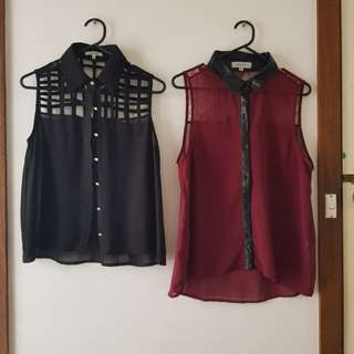 ASSORTED Collar Sleeveless Top