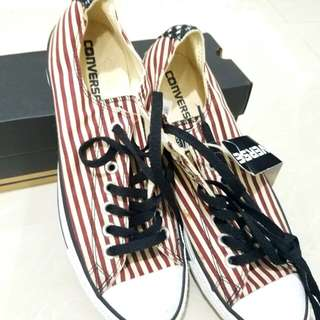 Converse All Star Red and White Stripes Low Cut