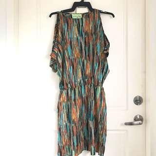 Spring Fling Shoulder Peekaboo Dress