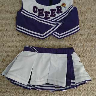 Build a bear cheerleader costume