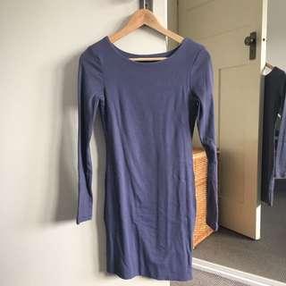 Grey blue kookai bodycon dress