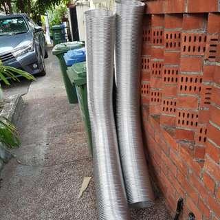 Coffee roaster/hose/pipe/aluminium/flexible/rigid