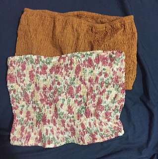 'One size fits all' Bandeaus - floral and copper