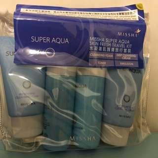 全新Missha Super Aqua skin fresh travel kit