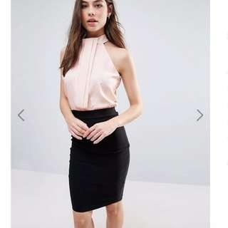 VESPER Size 8 / EU 36 Two In One Midi Pencil Dress