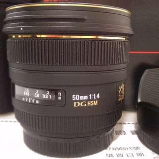 SIGMA 50mm F1.4 EX DG HSM (新塗裝恆伸公司貨)