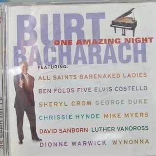 CD ALBUM - BURT BACHARACH - ONE AMAZING NIGHT.//BOX  Q  /