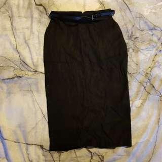 ASOS Black Pencil Skirt size 8 BNWT