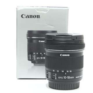 Canon EFS 10-18mm f4.5-5.6 IS STM Lens