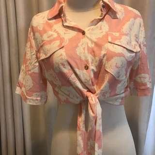 Flowers crop shirt