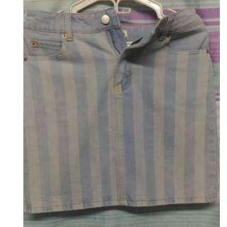 Preloved Topshop maong skirt
