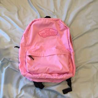 Vans baby pink backpack