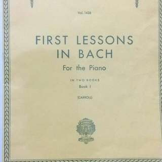 First Lesson In Bach