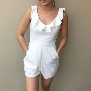 Melrose Avenue White Playsuit