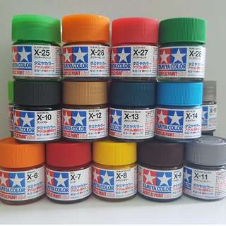 Tamiya Acrylic Paint mini X1-X35 Gloss (10ml)