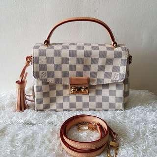 Authentic Louis Vuitton Croisette Damier Azur Crossbody Bag